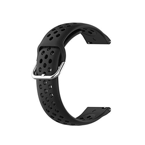 YGGFA Correa Deportiva de Silicona 18 mm 20 mm 20 mm Pulsera de Banda Transpirable para Samsung Galaxy Watch Active2 42mm Gear S2 S3 para Huawei GT para Amazfit
