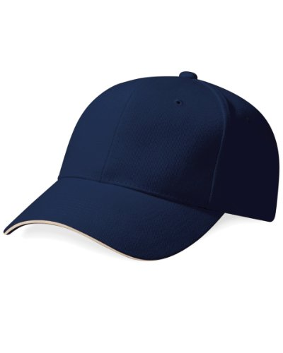 Beechfield Pro Style French Navy/Stone Casquette de baseball unisexe Taille unique