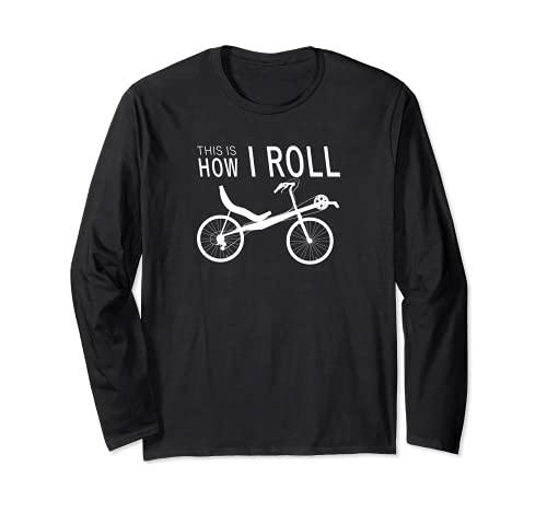 Así es como rodar bicicleta reclinada Manga Larga