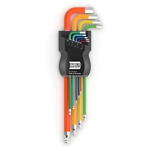 INBUS® 70266 Set llaves Inbus/ juego código colores