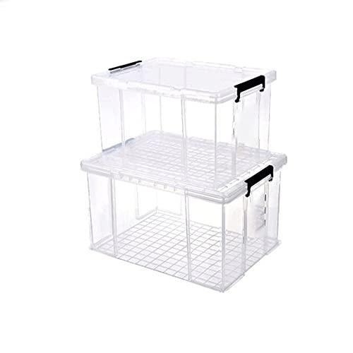 Dabeigouzzhiwl almacenaje, Caja de almacenamiento de gran capacidad para el hogar, caja de almacenamiento transparente, caja de almacenamiento de plástico, caja de almacenamiento de ropa de estudiante