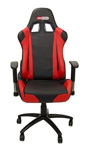 KS Tools 100381 Racing-stoel, rood/zwart