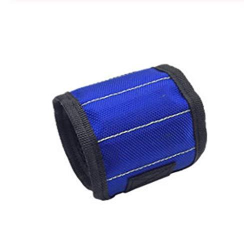 KDHJY 1 PC portátil magnética Pulsera de la Bolsa de Herramientas con 3 Cinturón de Herramientas del Electricista imán muñeca Clavos Tornillos Brocas Pulsera for la reparación de Herramientas R