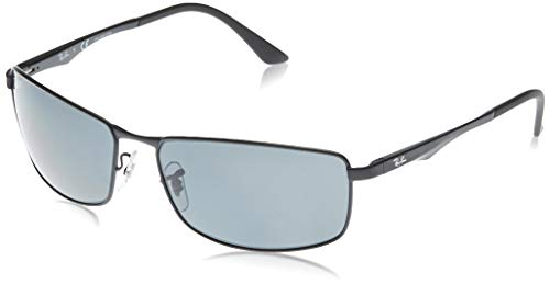 Ray-Ban Herren 0rb3498 Sonnenbrille, Schwarz (Matte Black/Polar Gray), One size (64)