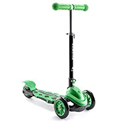 FUN FIRST SCOOTER FOR KIDS: The RideStar Cruise 3 Wheeled Folding Scooter is a top starter scooter for little ones aged 3 to 6 years old. Designed with 2 front wheels and a chunky rear wheel, it provides the stability the need to develop their confid...