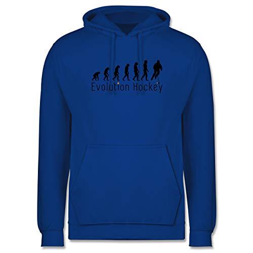Shirtracer Evolution - Evolution Hockey - M - Royalblau - Hoodie grün Hockey - JH001 - Herren Hoodie und Kapuzenpullover für Männer
