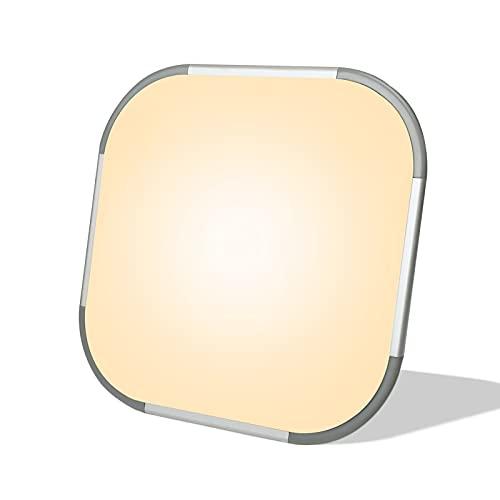 LZQ LED Deckenleuchte mit Bewegungsmelder 24W Radar Sensor Deckenlampe, IP44 2400lm für Flur, Treppe, Veranda, Garage, Carport, Balkon, Abstellraum 30 x 30 cm - Warmweiß, 2800-3200k