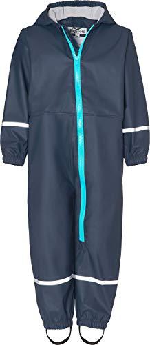 Playshoes Baby-Jungen Regen-Overall Regenhose, Blau (Marine 11), 98