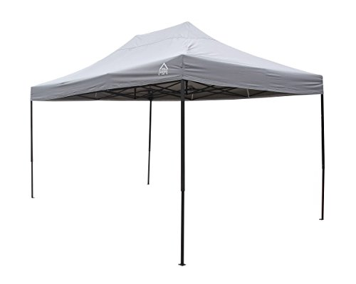 All Seasons Gazebos, 3x4.5m, Heavy Duty, Fully Waterproof, PVC Coated, Premium Pop Up Gazebo + Carry Bag With Wheels & 4 x Leg Weight bags. Choice of colours (Metallic Grey)