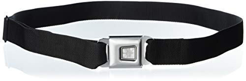 32-52 Inches in Length Crowley Pose I LIED- I DO THAT//Pentagram Black//Grays//White 1.5 Wide Buckle-Down Seatbelt Belt
