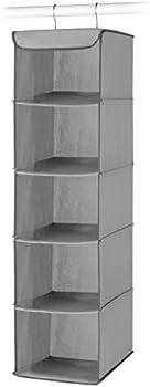 Whitmor 5 Section Closet Organizer Hanging Shelves