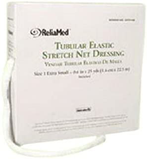 "ReliaMed Non-Sterile Latex Tubular Elastic Stretch Net Dressing for Hands, Arms, Legs and Feet, Medium 5"" - 6"" x 25 yds"