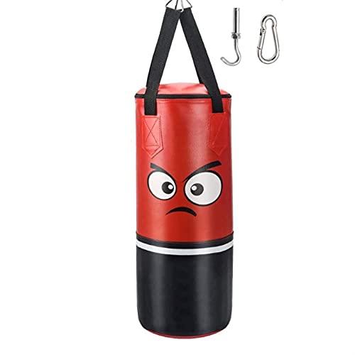 LHSJYG Saco Boxeo,Saco de Boxeo Boxeo Profesional Bolsa de perforación Entrenamiento Fitness con Patada Colgante Sandbag Niños Gimnasio Ejercicio Ejercicio de Boxeo vacío (Color : Red)