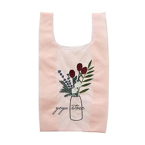 Bolso de playa de tela de hilo de Organza transparente de verano para mujer, bolso bordado, bolso de mano transparente ecológico de alta calidad para niñas