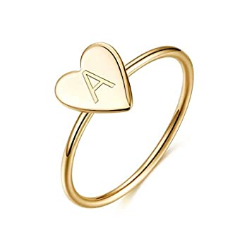 Best heart initial ring Reviews