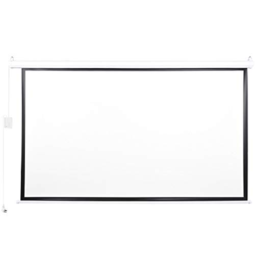 Sandistore Screens 100 inch Motorized Electric Remote Controlled Drop Down Projector Screen 16:9 8K 4K HD 3D Retractable Ceiling Wall Mount Black Projection Screen Office Home Theater Movie