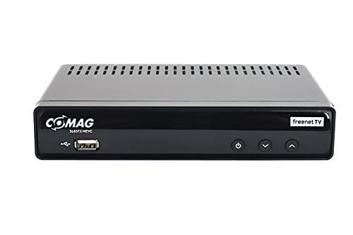 COMAG 32041 SL65T2 FullHD HEVC DVBT/T2 Receiver (H.265, HDTV, HDMI, Irdeto Zugangssystem, Mediaplayer, PVR Ready, USB 2.0, 12V) schwarz