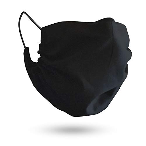 MASHELE XL Summer Face and Beard Headwear Protection Reusable Cloth Covering for Dust Outdoors (Extra Large Black)