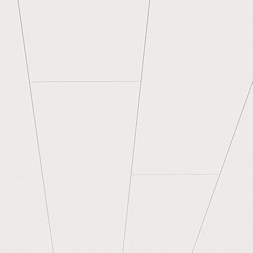 Avanti MDF Paneele Dekor Superweiß matt als Wandpaneel oder Deckenpaneel 1300 x 203 x 10 mm 1,58 m² feuchtraumgeeignet Schnellmontage