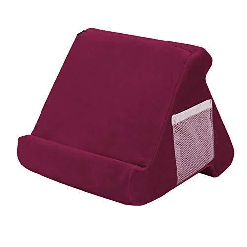 QAVILFLY Soporte de almohada para tableta, soporte de almohada suave, sofá silla sofá almohada portátil, para iPad, lectores electrónicos, smartphones, libros, revistas, varios colores, 1 pieza (E)