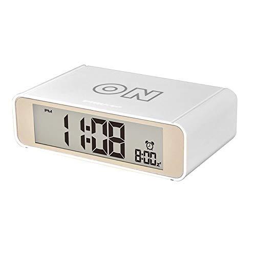 Reloj Despertador Digital, con función de repetición y función de repetición con luz Nocturna, Funciona con Pilas, Relojes de Viaje para niños y niñas en el hogar y la Oficina