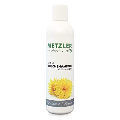 METZLER Molke Dusch-Shampoo mit Löwenzahn - milde Reinigung für Haut und Haar, 250 ml