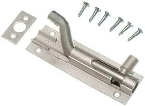 Door Bolt Barrel Offset Cranked 75Mm 3 Inch Aluminium + Screws Pack Of 3