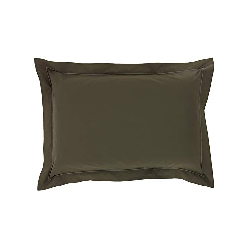Drap House Taie d'oreiller Percale 50x70 Taupe - Couleur: Taupe