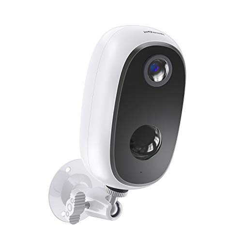 ieGeek Camara de Vigilancia WiFi Exterior sin Cables, Batería Recargable de 10000...