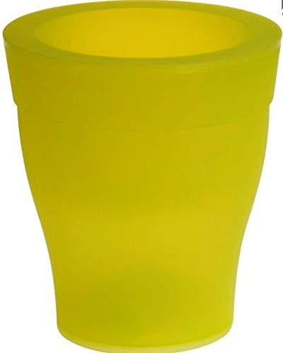 Meisterhome - Maceta con luz LED, diseño de flores, 3 colores (verde)