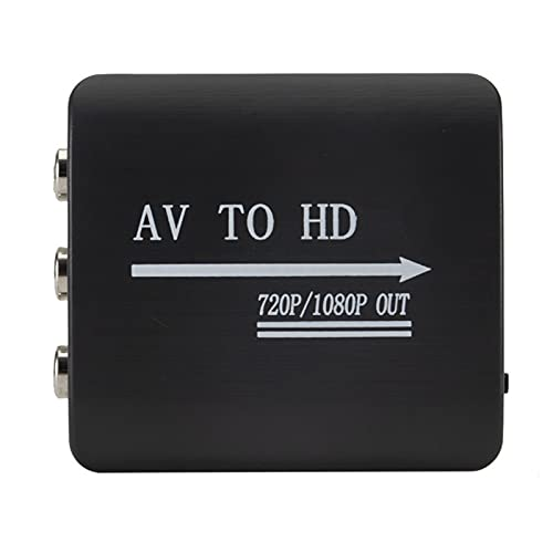 Rehomy Convertidor compatible con AV a HDMI- Adaptador AV2HDMI 1080P RCA AV a HDMI- Adaptador de vídeo compatible - Negro