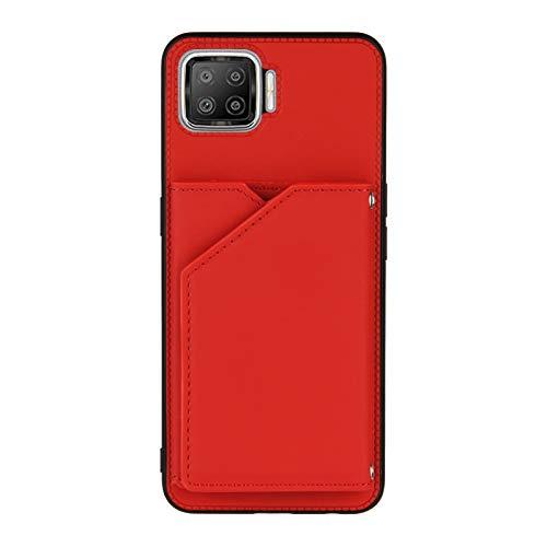 Schutzhülle für Oppo F17, Kreditkartenfächer, Rot