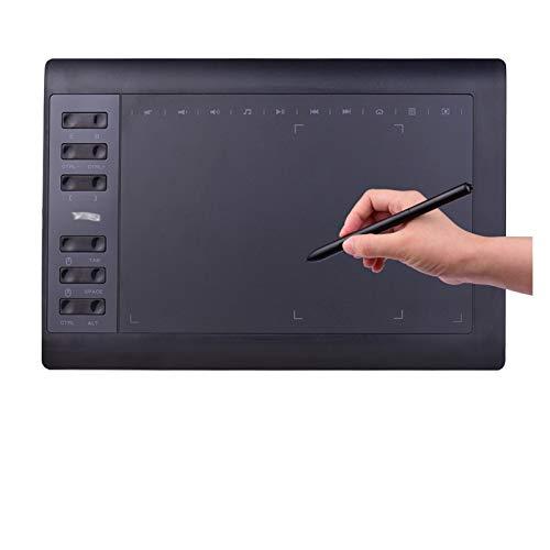 CMDZSW 10x6 Gráficos Profesionales Dibujo Tableta 12 Llaves Express 8192 Leveles Stylus / 8 UNIDS PC/PC/portátil PC/portátil (Color : Package D)