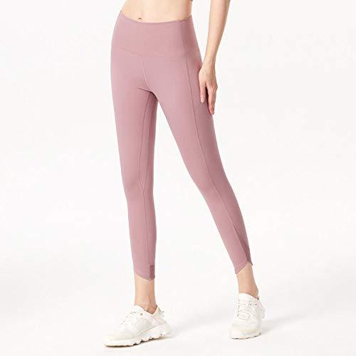 Bpants Mujeres Deportes Entrenamiento Pantalones de yoga Pantalones Pocket Leggings Corriendo Fitness High Elastic Cintura Sólido Skinny Stretch Capris Gym Leggin Pantalones de mujer pantalones de yog