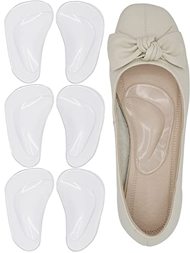 INSFENI Arch Support Cushions ,Gel Arch Inserts for Plantar Fasciitis&Flat Feet Reusable Adhesive Arch Pads to Relieve Pressure and Feet Pain for Men and Women (3CR)