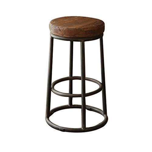 WG stoel stoel stoel ronde 5 cm dikte stoel oppervlak massief hout bar stoel retro doen de oude ijzer bar stoel koffie stoel receptie stoelen bar restaurant barstoel ponge + kunstleer/massief Wo