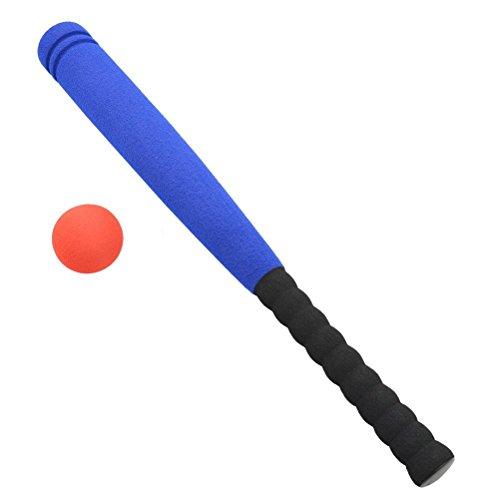 WINOMO Bate de béisbol de espuma segura con juego de béisbol para niños de 3 a 5 años (azul)