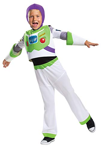 Disguise Buzz Lightyear Classic Toy Story 4 Child Costume White  M (7-8)