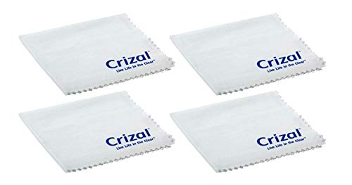 Crizal Lens Cleaning Cloth 4 Pack Wipes Micro Fiber Cleaning Cloth in Own Carry Case. for Crizal Anti Reflective Lenses|#1 Best Microfiber Cloth for Cleaning Crizal and All Anti Reflective Lenses|