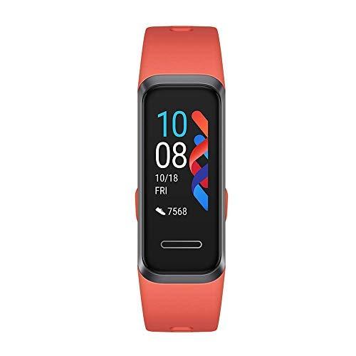 HUAWEI Band 4 Fitness Tracker, Schermo TFT a Colori da 0.96  , Monitoraggio Continuo 24 7 con TruSeen TM 3.5, Monitoraggio Scientifico del Sonno, Resistente all Acqua Fino a 5 ATM, Amber Sunrise