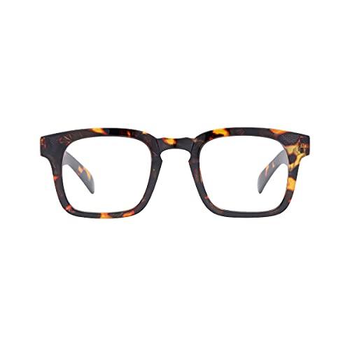 K-EYES – Gafas de lectura – Dioptría + 3,5 – Forma cuadrada – Color escamas – ramas flexibles – Diseñado en Francia