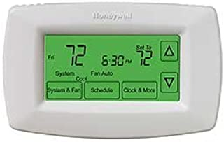 Programmable Touchscreen Thermostat, Small, White, 1-Pack
