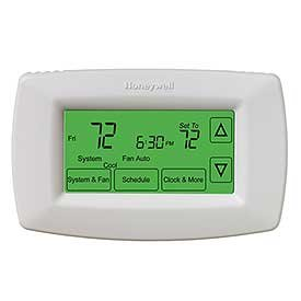 Honeywell Home RTH7600D 7-Day Programmable Touchscreen Thermostat small white 1-pack
