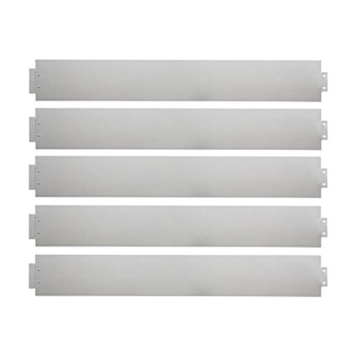 UISEBRT 10x Rasenkante Verzinkt 100x14cm Metall Beetumrandung Mähkante Palisade 10m (Länge 10m - Höhe 14cm)