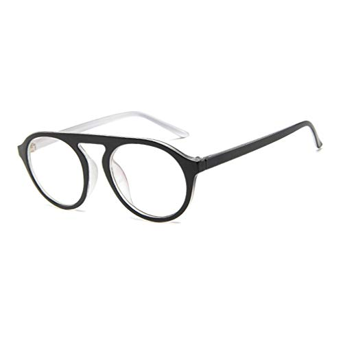 Yixikejiyouxian Gafas de Sol Ligeras para Todo Tipo de Mujeres Tendencia de la Moda Gafas de Sol con Montura Grande Gafas de Sol con protección Uv405 - Negro Blanco