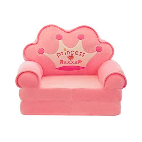 NUOBESTY Niños Sillón Slipcover Silla Cubierta Stretch Single Sofa Cover Couch Sofa Cover Furniture Protector Sofa Protector Cover Sofa Funda de Cojín para Niños Rosa(Sin Relleno)