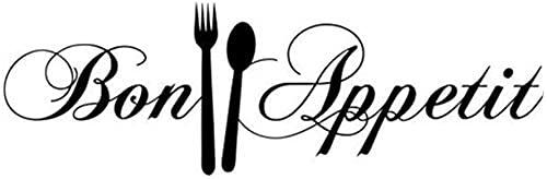 Disfrute De Su Tiempo De Cocción Reglas De La Cocina Bon Appetit S Pegatinas De Pared Para La Decoración Del Hogar Arte Mural Impermeable Calcomanías De Vinilo Para Bricolaje 58X18Cm
