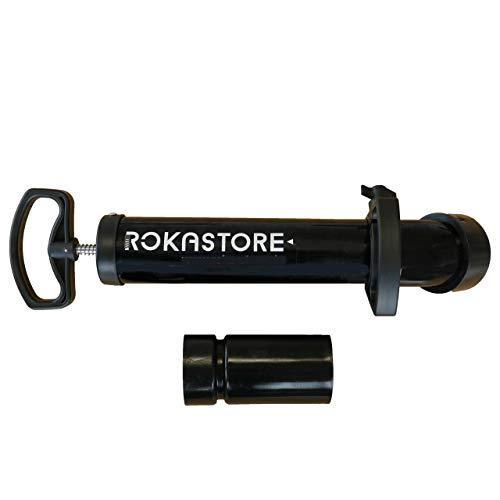 Hochdruck Abflussreiniger - Rohrreinigungspumpe mit 2 Aufsätzen zur Rohrreinigung mit Wasserdruck!