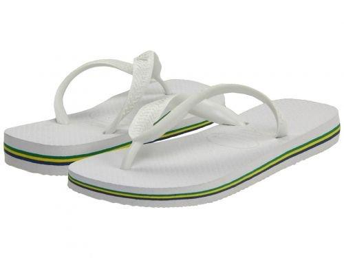 [ハワイアナス] レディース 女性用 シューズ 靴 サンダル Brazil Flip Flops – White 35/36 Brazil (US Men's 4/5, Women's 5/6) M [並行輸入品]