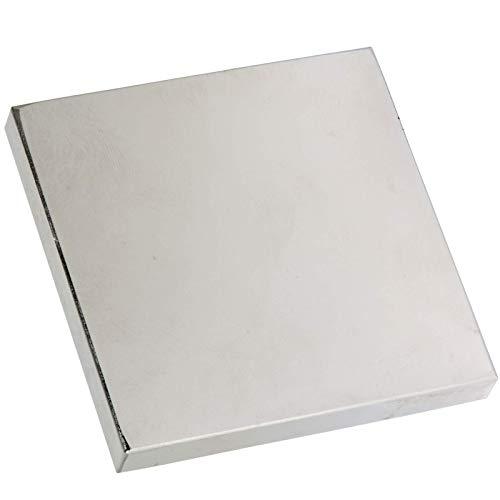 Neodym Magnet N52 380 Kg - Neodym Magnete Extra Stark - Super Magneten Quader Groß - 80x80x10 mm Power Block Platte
